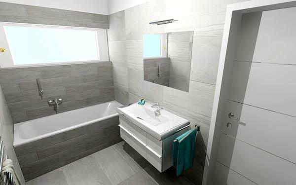 Náhled koupelny bungalovu