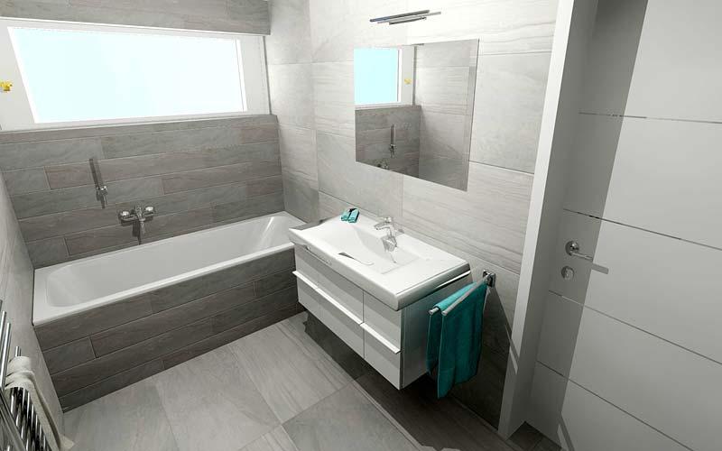 Náhled koupelny vily